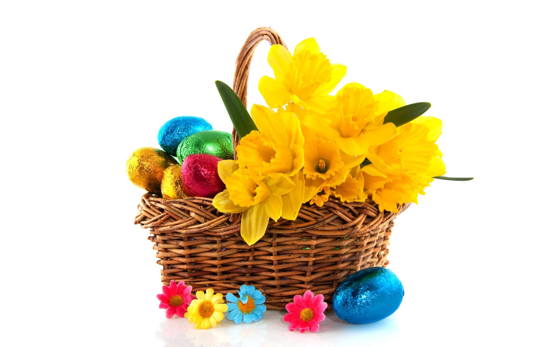 Free Easter Basket Desktop Wallpaper